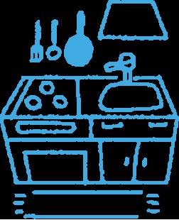 台所その他水を使用する箇所