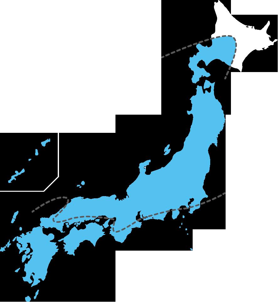 ヤマトシロアリとイエシロアリの分布図